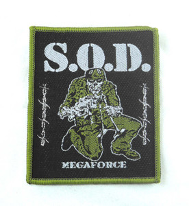 "S.O.D. - Megaforce 3.5x3"" WOVEN Patch"