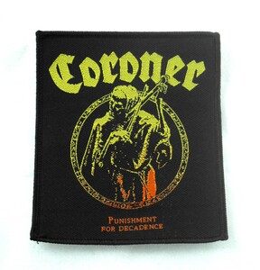 "Coroner - Punishment For Decadence 4x3.5"" WOVEN Patch"