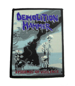 "Demolition Hammer - Epidemic Of Violence 4.5x3"" WOVEN Patch"