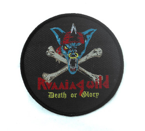 "Running Wild - Death Or Glory 3.5x3.5"" WOVEN Patch"