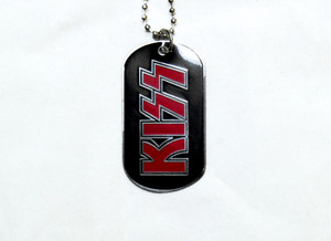 Kiss Logo - Dog Tag Necklace