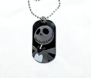 Jack Skellington Face - Dog Tag Necklace