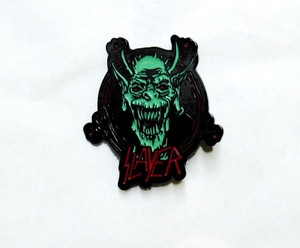 Slayer - Devil Face Logo Metal Badge
