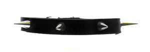 Black Leather Choker With Five Spikes