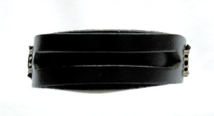 Double Layer Black Leather Bracelet