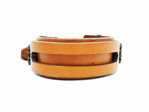 Double Layer Brown Leather Bracelet