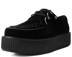 T.U.K. Shoes -  V9492 Black Velvet Viva Mondo Creeper