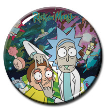 "Rick and Morty 1"" Pin"