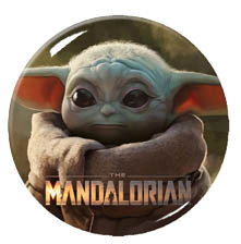 "Star Wars - The Mandalorian 1.5"" Pin"