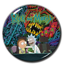 "Rick and Morty 1.5"" Pin"