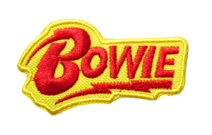 """David Bowie - Yellow Logo 3"""" Embroidered Patch"""
