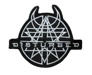 """Disturbed 5"""" Embroidered Patch"""