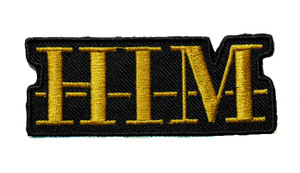 """HIM 3.5"""" Embroidered Patch"""