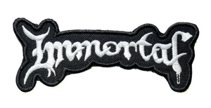 "Immortal 4"" Embroidered Patch"
