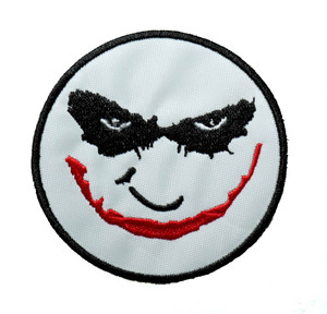 "Joker Face 3"" Embroidered Patch"