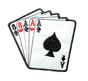 """Playing Cards - Ace Of Spades 3.5"""" Embroidered Patch"""