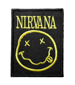 """Nirvana - Smiley 3"""" Embroidered Patch"""