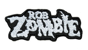 """Rob Zombie - Grey Logo 4"""" Embroidered Patch"""