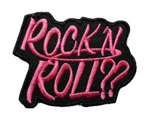 """Rock 'N Roll?? 3"""" Embroidered Patch"""