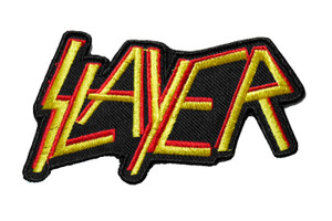 """Slayer - Yellow Logo 4"""" Embroidered Patch"""