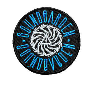"""Soundgarden - Blue Crest 2.7"""" Embroidered Patch"""
