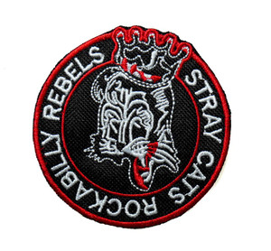 """Stray Cats - Rockabilly Rebels 3"""" Embroidered Patch"""