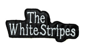 "The White Stripes - Logo 4"" Embroidered Patch"
