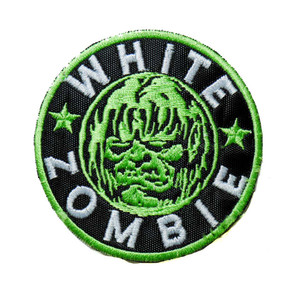 """White Zombie - Green 3"""" Embroidered Patch"""