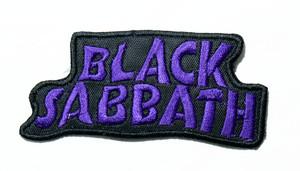 "Black Sabbath - Purple Logo 4"" Embroidered Patch"