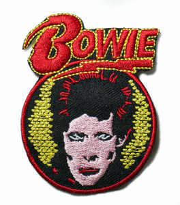 """David Bowie - Face Logo 3"""" Embroidered Patch"""