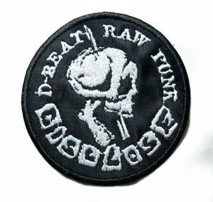 "Disclose - D-Beat Raw 3"" Embroidered Patch"