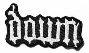 "Down - Logo 4"" Embroidered Patch"