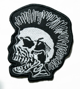 "Exploited - Skull 4"" Embroidered Patch"