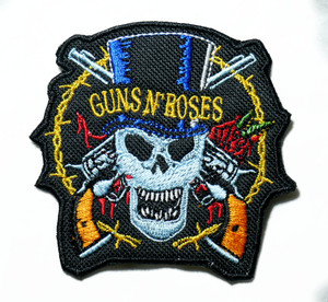 """Guns N' Roses - Skull 3"""" Embroidered Patch"""