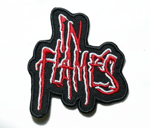 "In Flames - Logo 3"" Embroidered Patch"