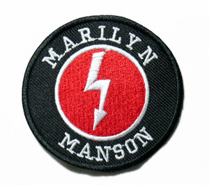 """Marilyn Manson - Shock 2.7"""" Embroidered Patch"""