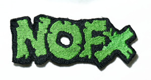 """NOFX - Green Logo 4"""" Embroidered Patch"""