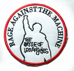 """Rage Against The Machine - The Battle Of Los Angeles 3"""" Embroidered Patch"""