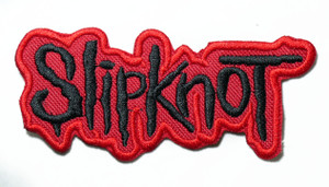 """Slipknot - Red Logo 4.5"""" Embroidered Patch"""