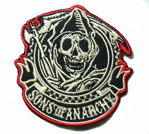 """Sons Of Anarchy 3"""" Embroidered Patch"""