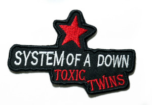 """System Of A Down - Toxic Twins 4"""" Embroidered Patch"""