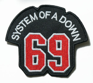 """System Of A Down - Logo 3.5"""" Embroidered Patch"""