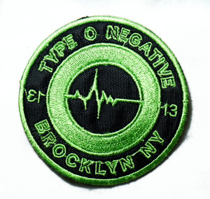 """Type O Negative - Brooklyn NY 3"""" Embroidered Patch"""