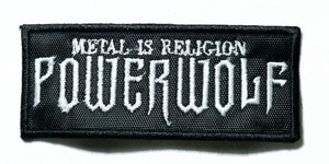 """Powerwolf - Metal Is Religion 3.5"""" Embroidered Patch"""