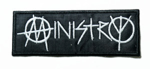 "Ministry - Logo 4"" Embroidered Patch"
