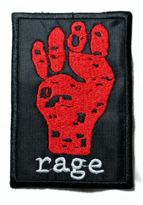 """Rage Against The Machine - Red Fist 2.5"""" Embroidered Patch"""