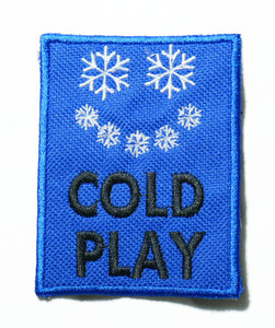 """Coldplay - Winter Logo 2.5"""" Embroidered Patch"""