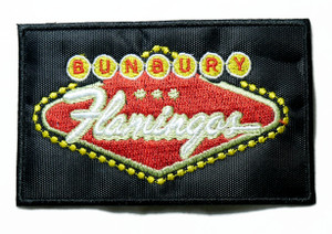"Bunbury - Flamingos 4"" Embroidered Patch"
