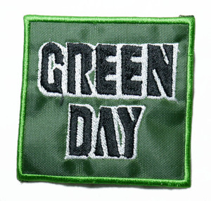 "Green Day - Green Logo 3"" Embroidered Patch"