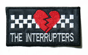 """The Interrupters - Broken Heart Logo 3.5"""" Embroidered Patch"""
